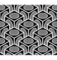 Regular contrast endless pattern with intertwine vector image