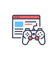 Browser games - modern single line design vector image