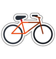 cartoon bicycle recreation transport icon vector image