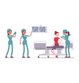 female nurse at medical procedure vector image