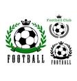 Football or soccer club badges design vector image
