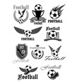 football or soccer sport club isolated symbol set vector image