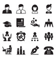 human resource business management icons set vector image