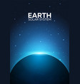 poster planet earth and solar system space vector image
