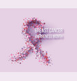 ribbon of pink flowers vector image