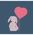 Silhouette of child in hat like rabbit ears vector image