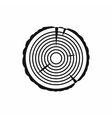 Tree ring icon in simple style vector image