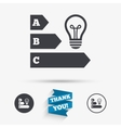 Energy efficiency icon Idea lamp bulb symbol vector image