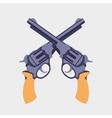 Guns flat vector image