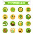 st patricks day icon set design element vector image