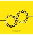 Gears symbol vector image