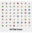 64 Glyph icons for web and mobile application vector image