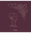 Two lasses With Different Wine Hand Drawn vector image