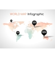 Abstract world map with tags points and vector image