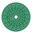 dollars laid out in a circle money vector image