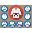 Karate suit flat vector image