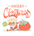 kid santa claus vector image