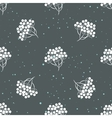 Rowanberry branch and snow seamless pattern vector image