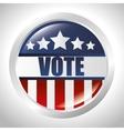 cartoon elections vote flag usa design vector image