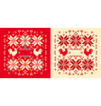rooster winter pattern vector image vector image