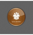 Social network wood application icons vector image