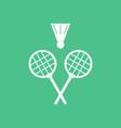 icon kids badminton vector image