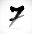 Numbers seven vector image