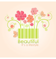 Beautiful nature style vector image