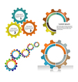 Meshing gear and industrial concept vector image