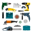 set of power electric tools Repair and vector image