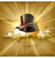 Cylinder hat old style background vector image