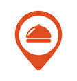 fod icon restaurant location pin icon vector image