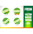 Fresh Badge Logo vector image