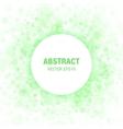 Green Abstract Circle Frame vector image