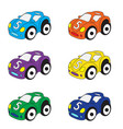 kids cars cartoon set cars toys vector image