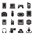mobile device icons set vector image