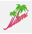 palm trees miami isometric icon vector image