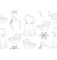 seamless cute fashion pattern vector image
