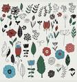 spring floral design elements vector image