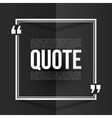 White quote frame with placeholder text at black vector image