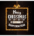 Xtmas and Happy new year golden banner vector image