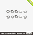 Weather Web Icons Set vector image vector image