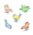 Bird image in color vector image