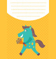 horse card vector image