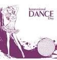 Dance day club dance vector image