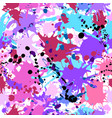 turquoise purple pink ink paint splashes seamless vector image