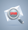 Spam message identification icon vector image vector image
