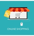 Online Shopping Flat Concept for Mobile Apps vector image