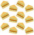 sandwich pattern vector image
