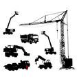 Silhouettes of machinery vector image